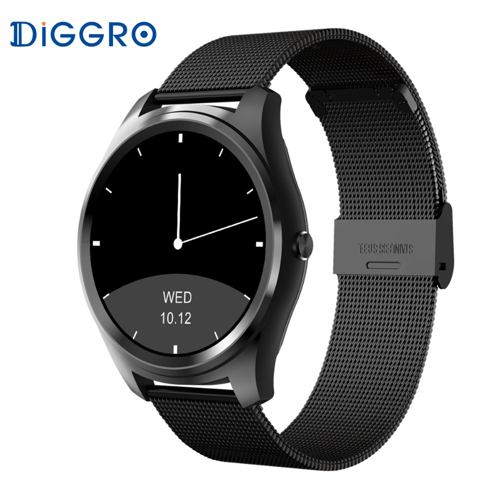 DI03 Smart Watch IP67 Heart Rate Monitor Bluetooth 3.0/4.0 Call/SMS Reminder Pedometer Smart Wrist Watch for IOS Android diggro di03 smart watch ip67 heart rate monitor pedometer fitness tracker bluetooth smartwatch sleep monitor for ios