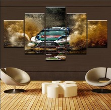 Modern HD Printed Canvas Art Pictures Framework For Living Room Home Decor 5 Pieces Sports Racing Car Landscape Poster Wall