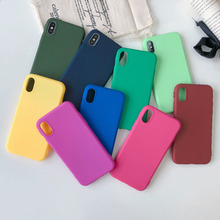 Candy Color TPU Rubber Silicone Case for iPhone