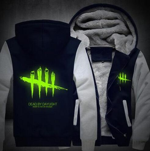 2018 NEW Men Women Dead by Daylight Luminous Jacket Sweatshirts Thicken Hoodie Coat Clothing Casual