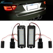 2x LED Number License Plate Light For VW GOLF MK4 MK5 MK6 PASSAT EOS ERROR FREE(China)