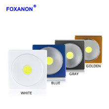 Foxanon Portable COB LED Switch Novelty Lighting Night Lamp Battery Operated For Indoor Lighting Stairs Cabinet Camping Light 5W(China)