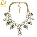 statement necklace 2016 fashion we jewelry crystal choker necklace big necklaces pendants bijoux femme collares largos chokers
