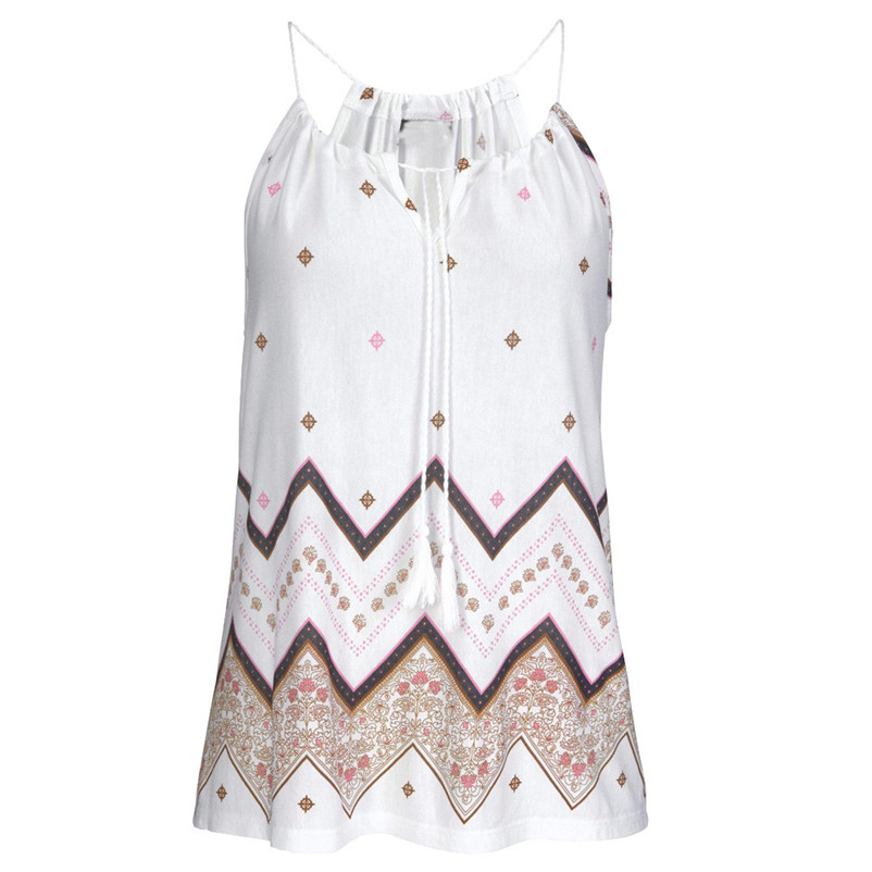 HOT sell Fashion womens tops and blouses summer 2018 Loose Sleeveless Casual Tank T-Shirt Blouse Tops Vest camicette Y17#N (2)