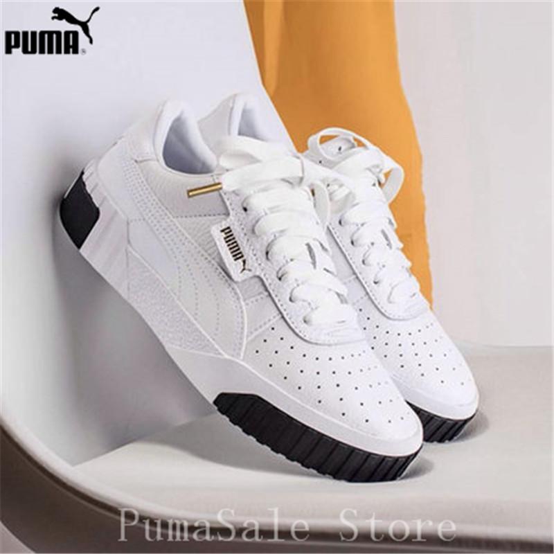 6ec7d122ecf PUMA femmes Cali Sneaker 369155 04 Rihanna Basket plate forme Euphoria  métal femmes chaussures de Badminton blanc supérieur femmes chaussures 35  40 dans ...