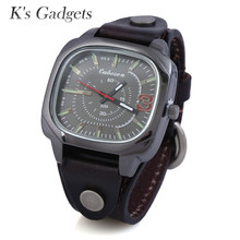 hot deal buy k's gadgets luxury unique red strap big square pure leather wrist watches cowhide vintage watch bracelet female women's watches