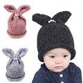 Прекрасный Милый ребенок девочки мальчики вязаные крючком зимние шапки с кролик уши кролика европейский стиль шапочки cap