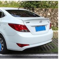 For Hyundai Verna accent Spoiler ABS Material Car Rear Wing Primer Color Rear Spoiler For Hyundai Verna Spoiler 2011 2015