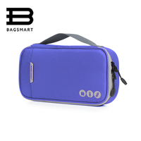 BAGSMART New Portable Electronic Accessories Organizers Bag Waterproof Travel Bags For Phone Data Line SD Card