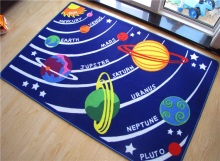 Area Rugs for Bedroom Educational Galaxy Planets Stars Rugs Fun Rugs Children Area Rug for Playroom Carpets for kindergarten