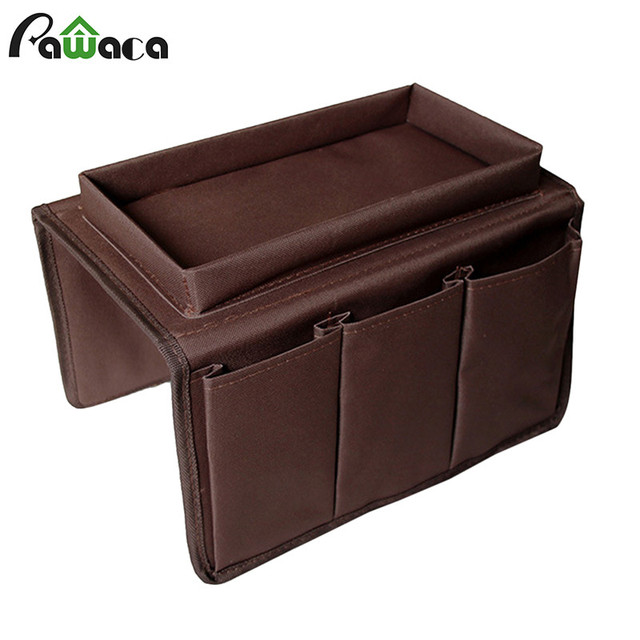 Sofa Couch Remote Control Holder Pocket Arm Rest Organizer Storage Bag Use For