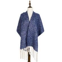 winter scarf warm cashmere shawls wraps gifts plain tassel long fashion luxury women stole