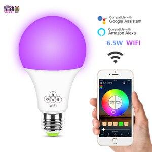 6.5W WiFi Smart LED Bulb E27 a