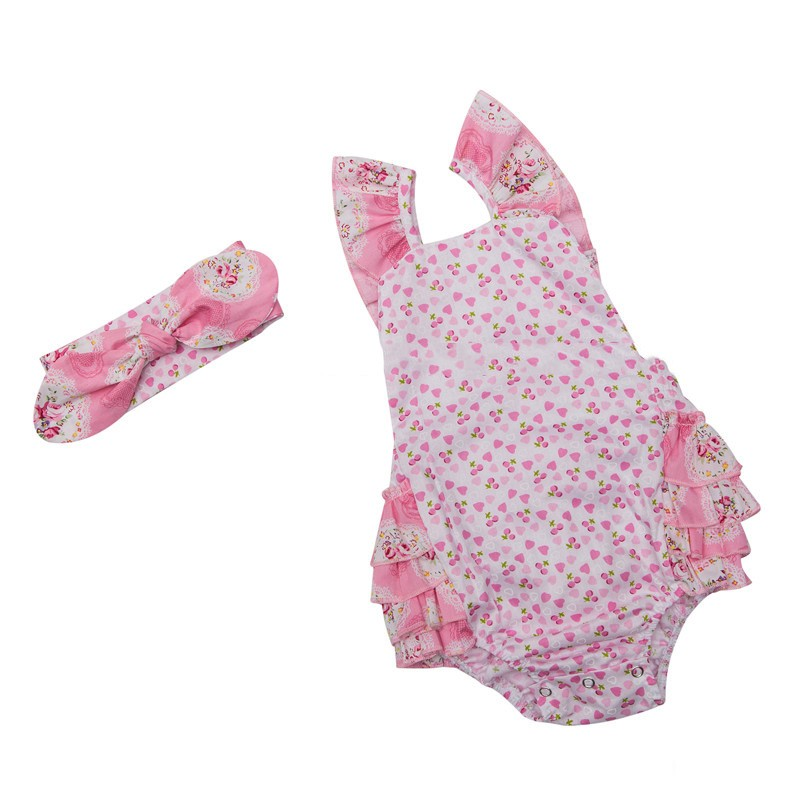 Floral Baby Girl Bodysuits  (4)