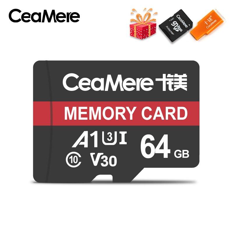 Image 3 - CeaMere Micro SD карта класс 10 UHS 1 8 Гб класс 6 16 Гб/32 ГБ U1 64 Гб/128 ГБ/256 ГБ U3 флэш карта памяти Microsd для смартфона-in Карты памяти from Компьютер и офис
