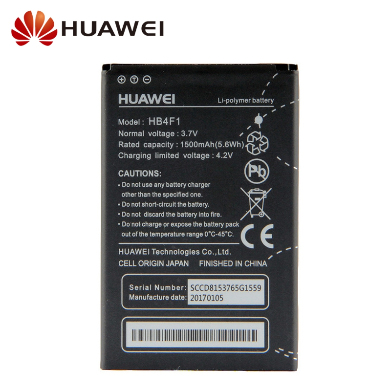 Original Replacement Battery HB4F1 For Huawei U8800 U8220 U8230 E5830 E5838 E5 C8600 X5 C8800 E585 Ascend M860 1500mAh in Mobile Phone Batteries from Cellphones Telecommunications