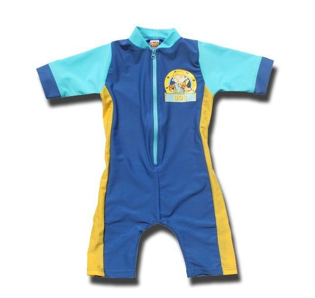 wholesale branded boys BOB one piece UV protection swimwear baby cartoon rash guards short sleeve swearsuit /swimming wear