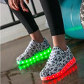 light up led luminous Men shoes 7 color glowing casual fashion with new simulation sole charge for men adults neon basket