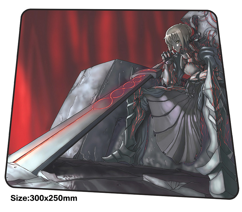 Fate Saber mousepad 300x250x3mm gaming mouse pad big gamer mat cool new game computer desk padmouse Adorable large play mats