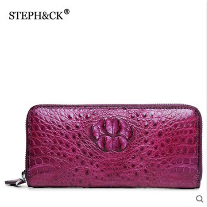 STEPH&CK lady bag alligator leather lady hand bag leather clutch lady casual clutch large capacity clutchSTEPH&CK lady bag alligator leather lady hand bag leather clutch lady casual clutch large capacity clutch