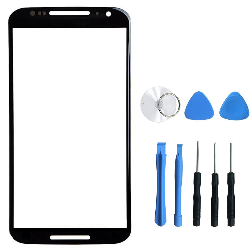 For Motorola Moto X+1 X2 2nd 2 Gen XT1097 XT1093 Replacement Front Outer Glass Lens of Touch Screen + Free Tools&Tracking Number