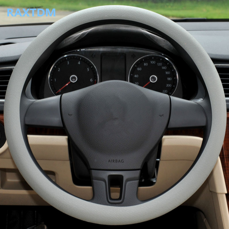 Hot silicone car steering wheel cover For Renault Koleos Clio Scenic Megane Duster Sandero Captur Twingo