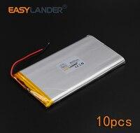 10pcs Lot 3 7V 8000mAh Rechargeable Li Polymer Li Ion Battery For Bluetooth Notebook E Book