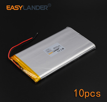 7566121  10pcs/Lot 3.7V 8000mAh Rechargeable li Polymer Li-ion Battery For Bluetooth Notebook  Power Bank Portable Consumer