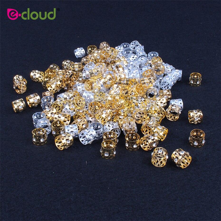 50 pçs lote Ouro E Prata Contas