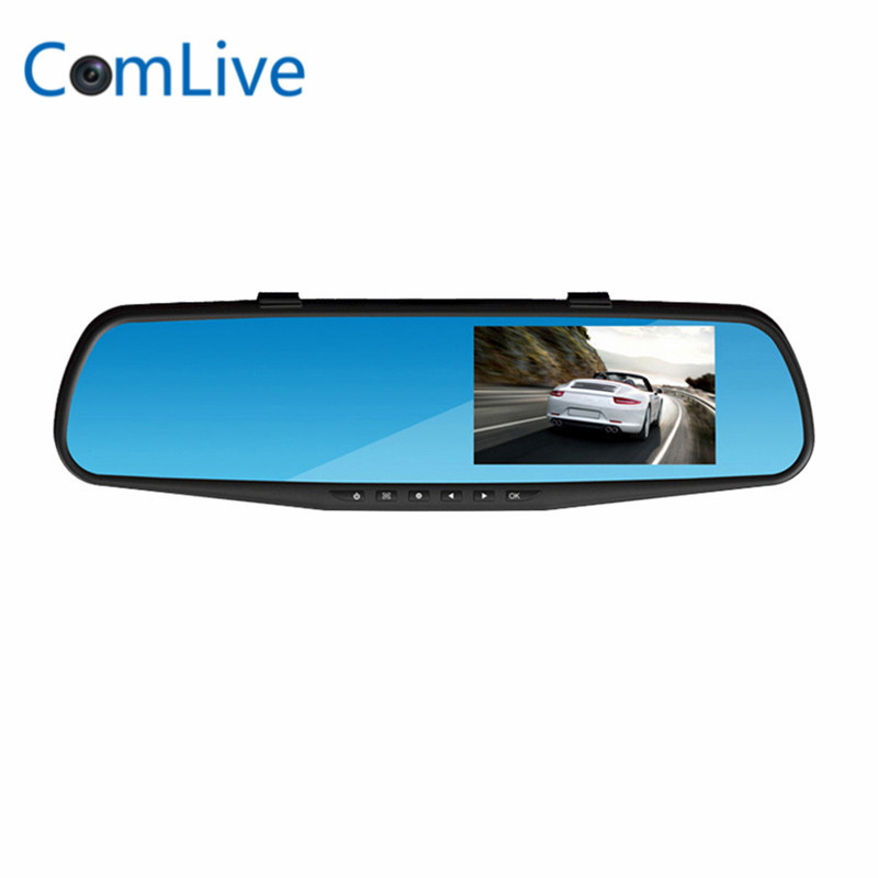 2017 RM-LC2010 DVR Full HD 1080P 4.3 inch Rearview Mirror 3 Functions in 1 Rearview Mirror + Front Camera DVR + Rearview Camera