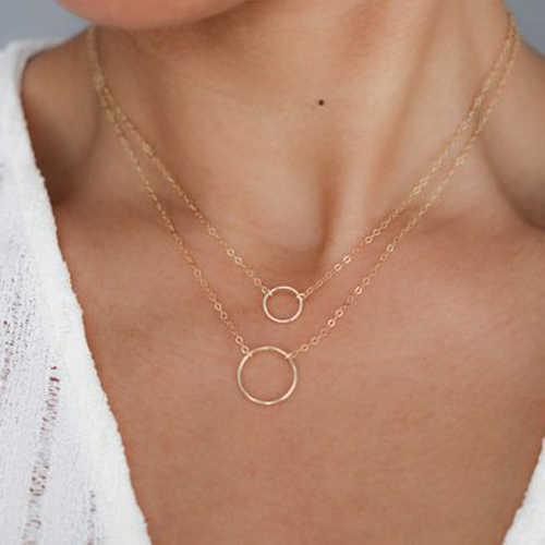 Seblasy ร้อนขายเครื่องประดับ Multi Layer สามเหลี่ยมดวงจันทร์ดาวหยดน้ำคริสตัลสร้อยคอสำหรับผู้หญิงงบของขวัญ
