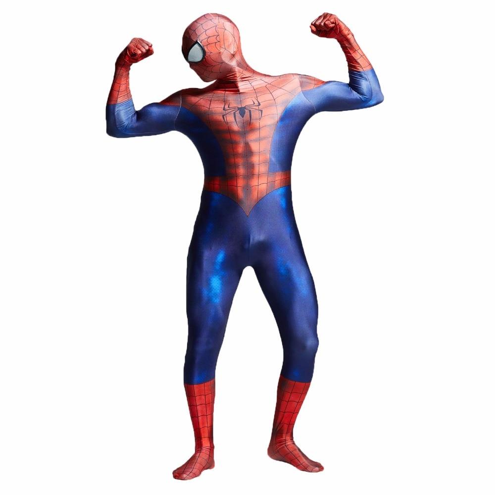 3D Spider-Man Homecoming Cosplay kostym Man Spandex Lycra Spiderman - Maskeradkläder och utklädnad