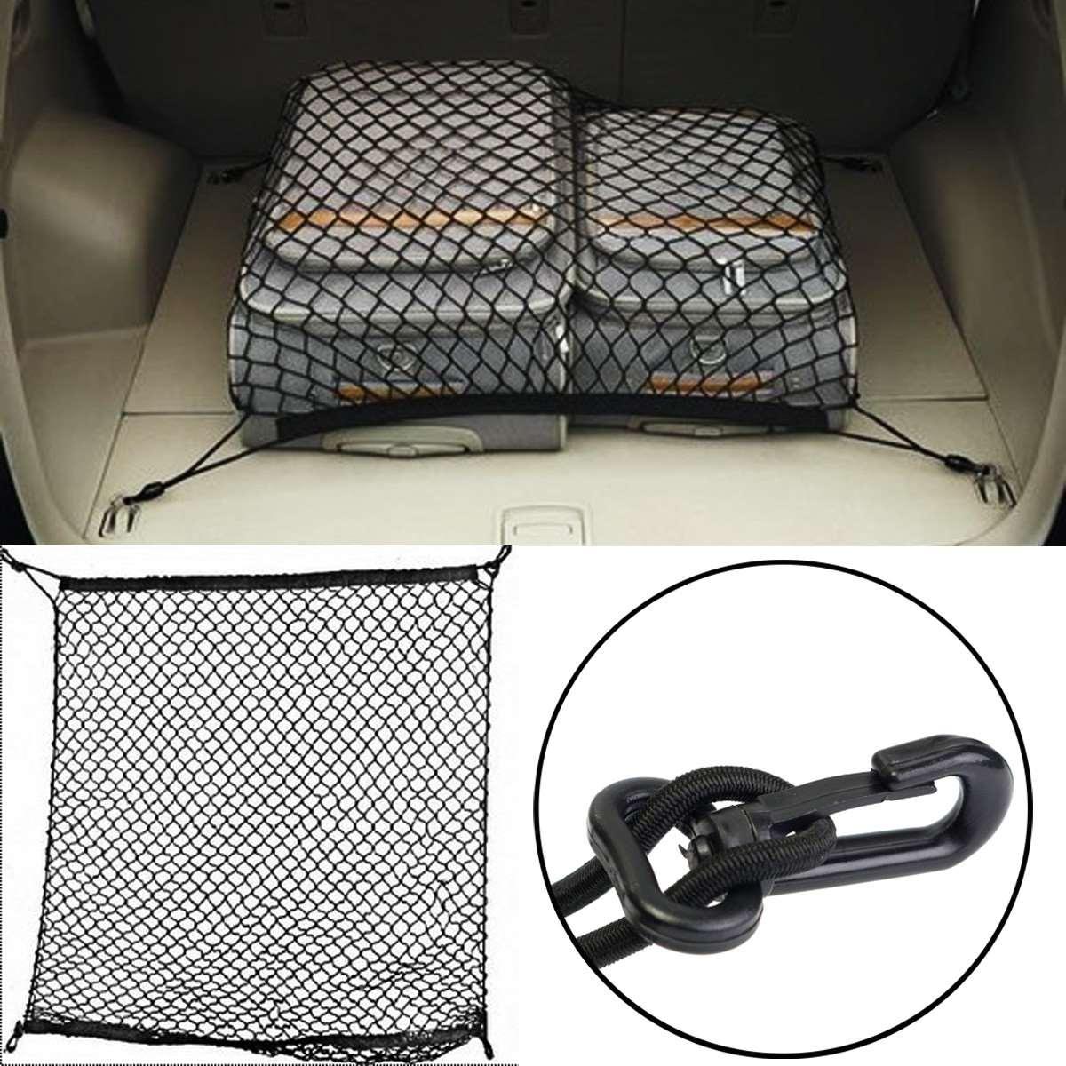 70x70cm Car Trunk Boot String Bag Elastic Nylon Rear Cargo