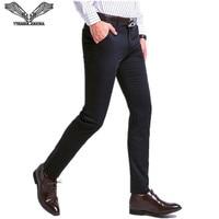 VISADA JAUNA 2017 Herfst Nueva Moda Para Hombre Pantalones Rectos Pantalones Casual Slim Fit Pak Business Rechte Broek N5842