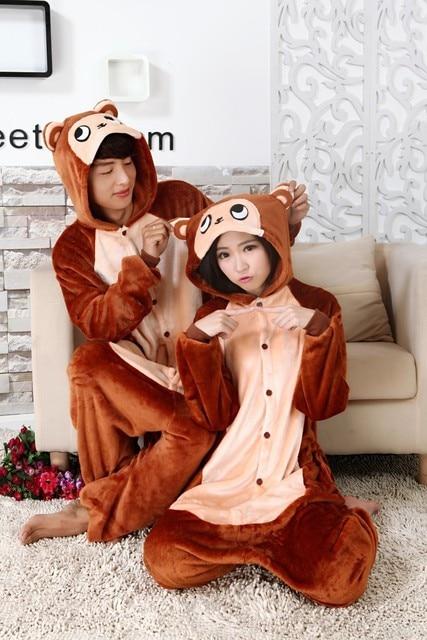 d5a619d4d5d7 Kigurumi Brown Monkey Onesies Pajama Sets Adult Sleepwear Unisex ...