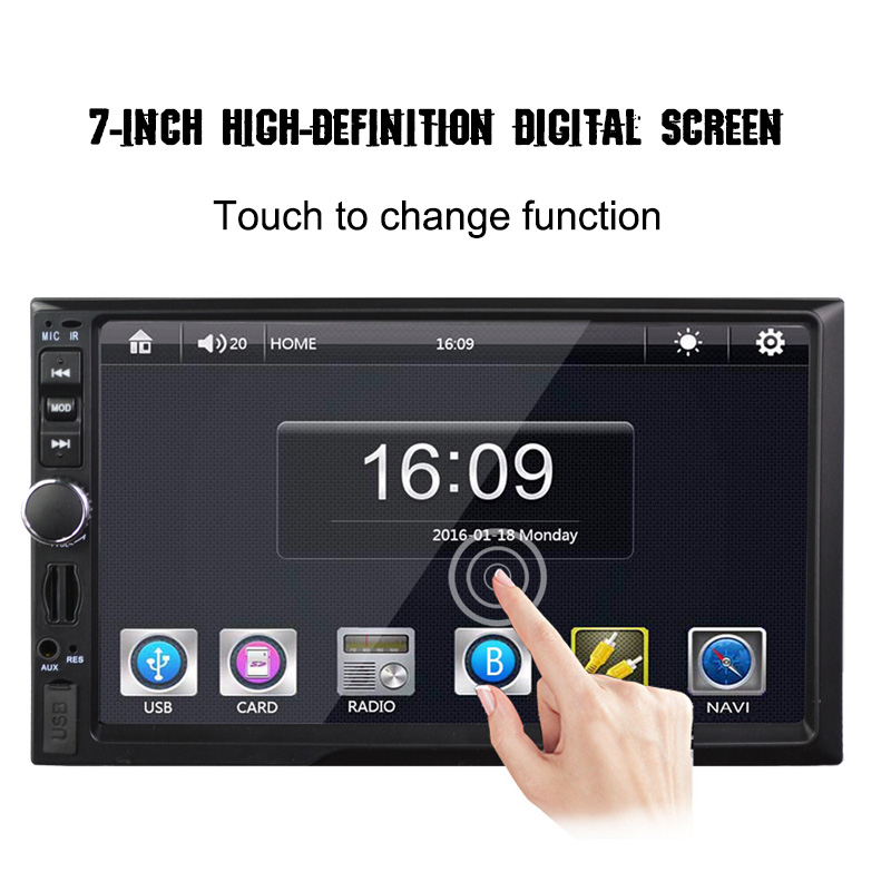 7 inch Universal Car MP5 Player With/Without GPS Audio Video MP3 MP4 SD USB Bluetooth with Reverse Backup View Camera Auto