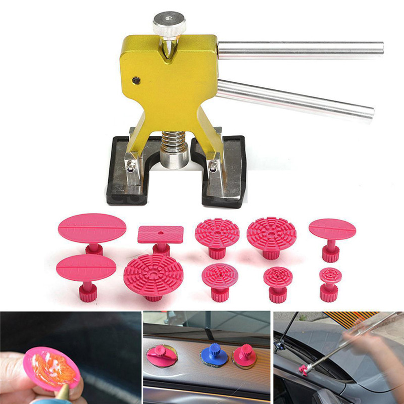 NEW Car Body Tools dent Lifter Puller Paintless Repair Removal +10 Pulling Tabs top quality golden car dent lifter glue puller with 18pcs blue tabs repair hail removal tool