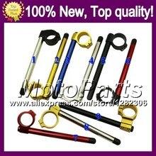 CNC Clip on Handle Bars For KAWASAKI NINJA ZZR-1100 93-01 ZZR 1100 ZX11R ZZR1100 1993 1994 1995 1996 Clip ons Handlebar Clip-on
