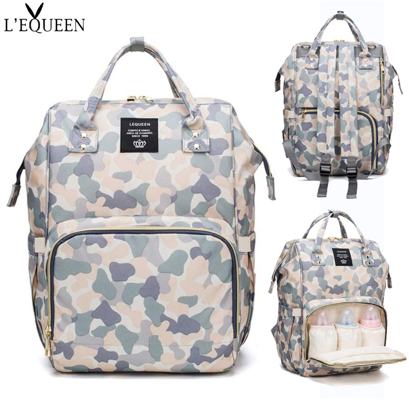 Oxford Cloth Baby Bag for Mummy Camo Print Diaper Bag Backpack Large Capacity Travel Maternity Nursing BagOxford Cloth Baby Bag for Mummy Camo Print Diaper Bag Backpack Large Capacity Travel Maternity Nursing Bag