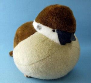 Image 4 - Gorrión y pájaro real de 38/32/45cm, peluches, almohada de muñeco de gorrión de peluche, juguetes para niños, regalo de cumpleaños para niños y niñas