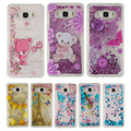 Case For Samsung Galaxy S5 S6 S7 Edge J3 J5 J7 A3 A5 2015 2016 G530 G360 H Мягкий ТПУ Bling Блеск Quicksand Кожного Покрова LZYB000