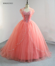Best Selling 2015 Coral Quinceanera Dresses for Sweet 16 Girls Beading Crystal Ball Gowns Princess Styles Vestido de Debutante