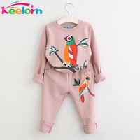Girls Clothes 2016 Brand Girls Clothing Sets Kids Clothes Cartoon Children Clothing Toddler Girl Tops Pants