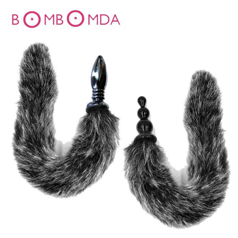 Buy Sex Shop Fox Tail Anal Plugs Erotic Sex Toys Women Men Masturbation G Spot Stimulation Prostate Massager Backyard Butt Plugs