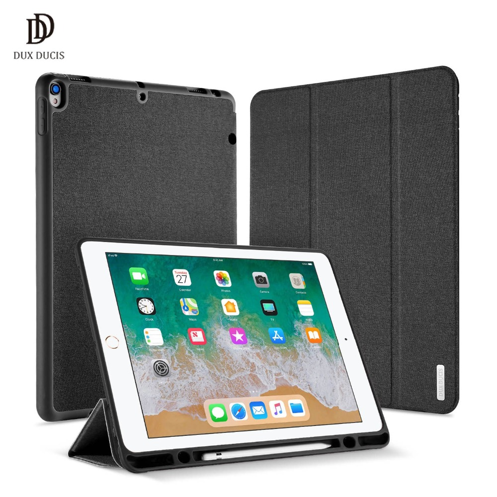 DUX DUCIS PU Étui En Cuir pour ipad Pro 12.9 2017 Stand Magnétique Smart Cover pour ipad Pro 12.9 pouce Avec porte-crayon Coque