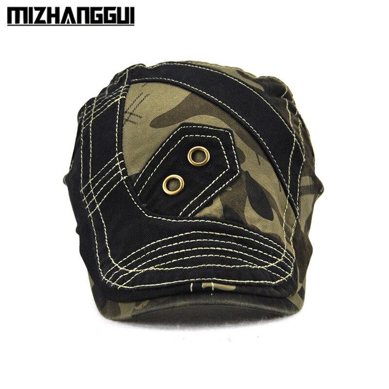 4b1810b5888 Patchwork Camouflage Men Hat Cool Vintage Visor Beret Hats Adjustable  Outdoor Travelling Men s Cap Men Hat with A Visor-in Visors from Apparel  Accessories ...