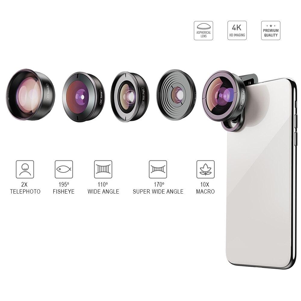 4 ワイドマクロ望遠鏡スーパー魚眼レンズ Mobile xs