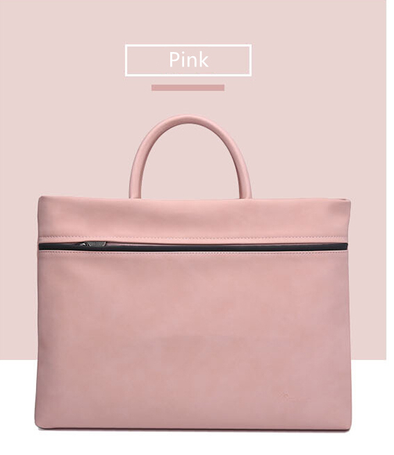 Casual PU Leather Laptop bag Women 15.6 inch Portable Shoulder Men Notebook bag 14 13.3 13 inch Fashion 2018