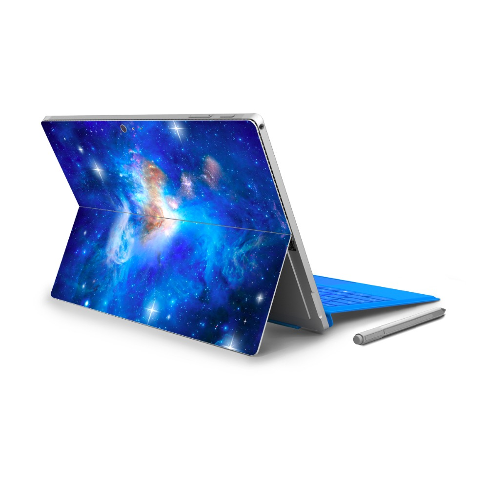 GOOYIYO - For Micro Surface Pro 4 Vinyl Back Full Decal Tablet Netbook Ultrabook Sticker Starry Skin Logo Cut Out