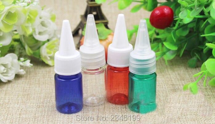 5 ML petite bouteille vide transparente à capuchon pointu, maquillage Lotion de soin de la peau bouteille rechargeable taille de voyage emballage liquide, 100 pcs/lot